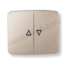 Tecla interruptor pulsador persianas cobre saten 8244cs Arco Nie