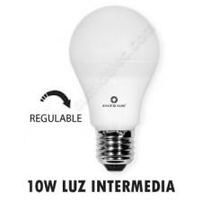 Bombilla regulable standard LED E27 10W luz intermedia