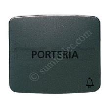 Tecla pulsador rotulo simbolo timbre grafito 82049GF Arco
