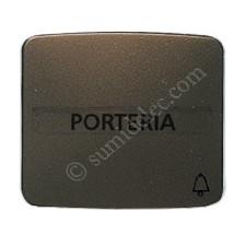 Tecla pulsador rotulo simbolo timbre bronce 82049BR Arco