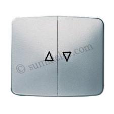 Tecla interruptor pulsador persianas plata mate 8244pm Arco