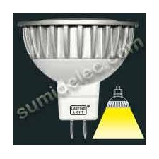 Bombilla dicroica mr16 LED 6w Gu 5,3 12v 493 lumenes 4000K Sharp