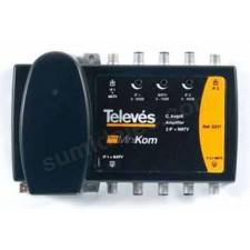 Central amplificacion Minikom 2e/2s terrestre sat 5317 Televes