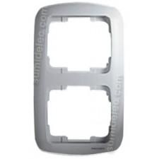 Marco 2 elementos vertical plata 8372PL Arco Moderno Niessen