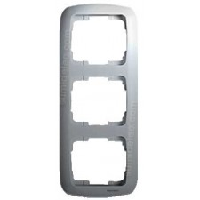 Marco 3 elementos vertical plata 8373PL Arco Moderno Niessen