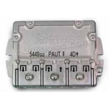 Repartidor PAU 4 direcciones 9/7,5dB EMC 544902 televes