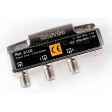 Repartidor 2 direcciones 5/2400MHz 4/5dB 5150 televes