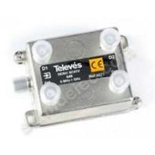 Derivador interior 5-1000MHz 4575 televes 4 salidas 20dB