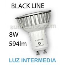 Bombilla LED GU10 8W Sharp Black Line luz natural