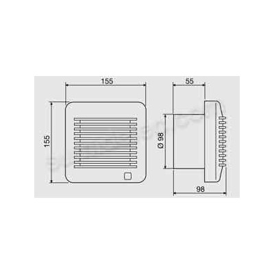 Extractor aseo Soler Palau EDM-100CH...