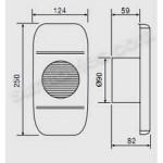 Extractor aseo ventiladores SolerPalau EDM-80L rectangular