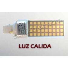 Bombilla LED G24 luz cálida 8W 3000K 650lm PL 2 pines
