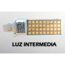 Bombilla LED PL 2 pin luz intermedia 8W 4500K 680lm G24