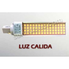 Bombilla LED G24 luz cálida 11W 3000K 900lm PL 2 pin