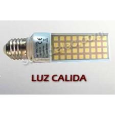 Bombilla LED PL E27 8W 3000K 650 lúmenes luz cálida