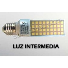 Bombilla LED PL E27 8W 4500K 680lm luz intermedia