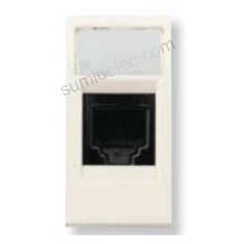 Conector hembra rj45 blanco 2118.5 serie stylo niessen