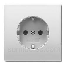 Base enchufe schuko JUNG al 1521 ki proteccion niños aluminio serie ls990