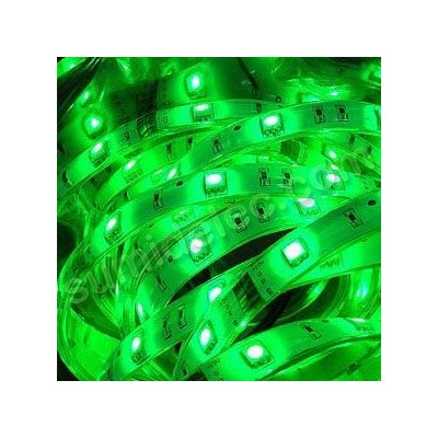 Tira led 5m IP65 color verde chip smd...