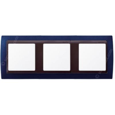 Marco azul metalizado 3 ventanas...