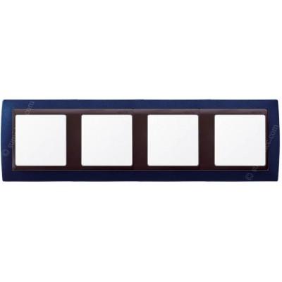 Marco azul metalizado 4 elementos...