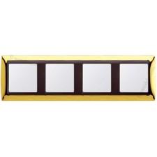 Marco oro 4 elementos serie Simon grafito 82844-66