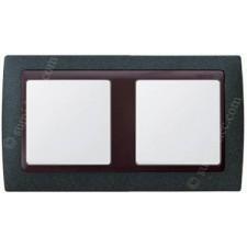 Marco Verde textura 82824-65 2 ventanas Simon 82 grafito