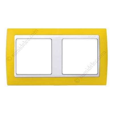 Marco Amarillo blanco 2 elementos...