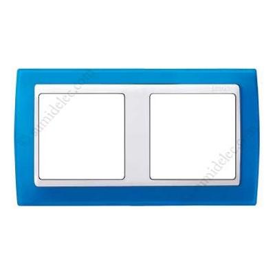 Marco azul translúcido 2 elementos...