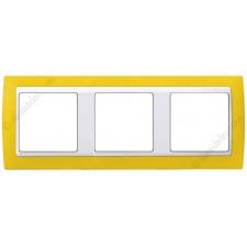 Marco Amarillo blanco 3 ventanas Simon 82612-62
