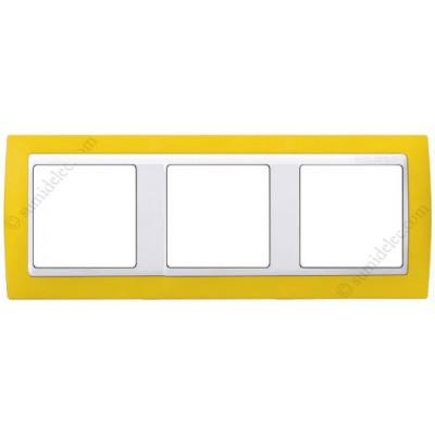 Marco amarillo blanco 3 ventanas simon 82 82612 62 - Simon 82 blanco ...