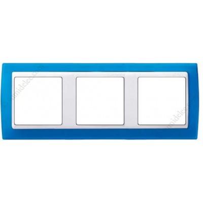 Marco azul translúcido 3 elementos...