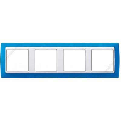 Marco azul translúcido 4 ventanas...