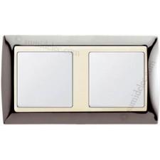 Marco Acero oscuro marfil simon 82724-67 2 ventanas