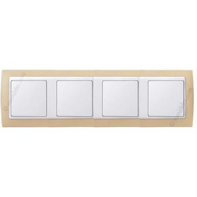 Marco Crema blanco 4 ventanas Simon...