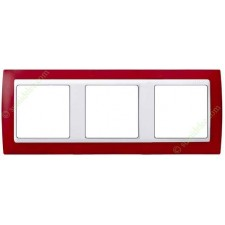 Marco Rojo translúcido 82633-37 3 elementos Simon
