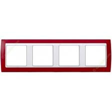 Marco Rojo translúcido 82643-37 4 ventanas Simon