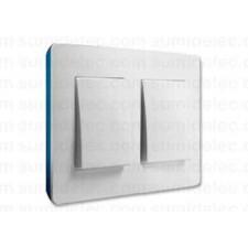 Marco blanco base azul índigo 2 elementos 8200620-201 Simon