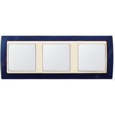 Marco Azul metalizado simon 82734-64 3 elementos