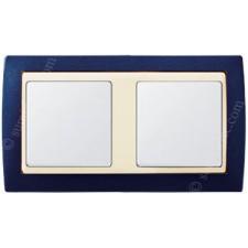Marco Azul metalizado 82724-64 Simon 2 elementos gama marfil