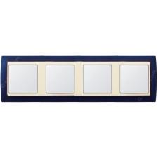 Marco Azul metalizado 82744-64 4 ventanas Simon gama marfil