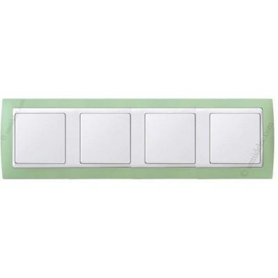 Marco Verde pastel 4 elementos...
