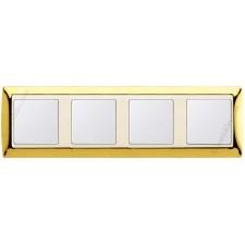 Marco Oro marfil 4 elementos simon 82744-66