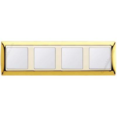 Marco Oro marfil 4 elementos simon...