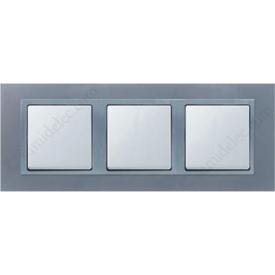 Marco aluminio 3 elementos 82937-33 Simon 82 acabado metal precio