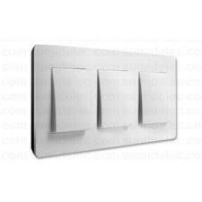 Marco blanco base negra 3 ventanas Simon Detail 8200630-200