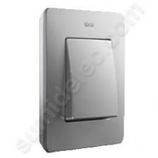 Marco aluminio frío base blanca 1 elemento Simon Detail Air