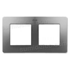 Marco aluminio frío base blanca 2 elementos Detail Air Simon