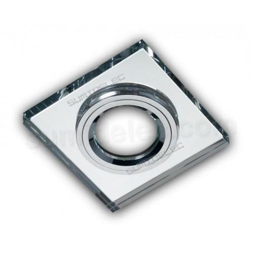 Foco aro empotrable aluminio cristal ptico espejo luxor precio - Aluminio espejo ...