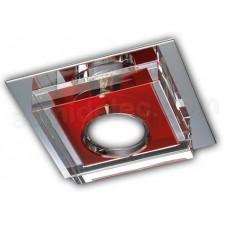 Aro empotrable metal cromado rojo cristal óptico K9